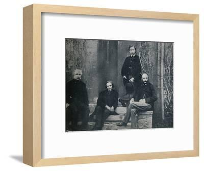 The Prince of Wales and his tutors at Oxford University, c1860 (1910)-Unknown-Framed Photographic Print