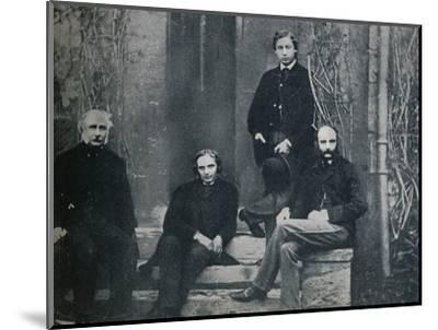 The Prince of Wales and his tutors at Oxford University, c1860 (1910)-Unknown-Mounted Photographic Print
