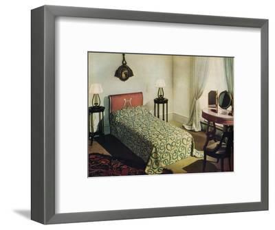 'Woven cotton bedspread by Vantona Textiles Ltd.', 1941-Unknown-Framed Photographic Print
