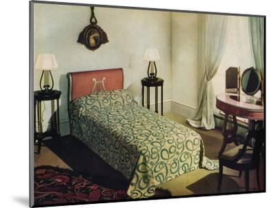 'Woven cotton bedspread by Vantona Textiles Ltd.', 1941-Unknown-Mounted Photographic Print