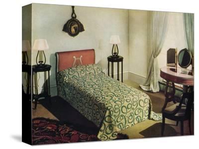 'Woven cotton bedspread by Vantona Textiles Ltd.', 1941-Unknown-Stretched Canvas Print