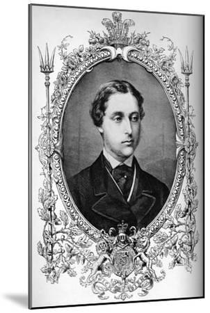The Prince of Wales at the time of his marriage, c1863 (1910)-Unknown-Mounted Giclee Print