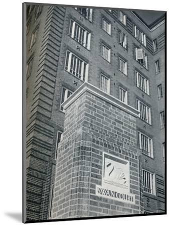 'Swan Court, Chelsea', 1932-Unknown-Mounted Photographic Print