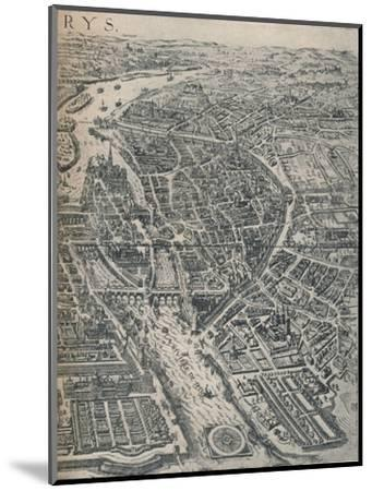 Plan of Paris, c1630 (1915)-Unknown-Mounted Giclee Print