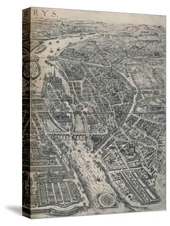 Plan of Paris, c1630 (1915)-Unknown-Stretched Canvas Print