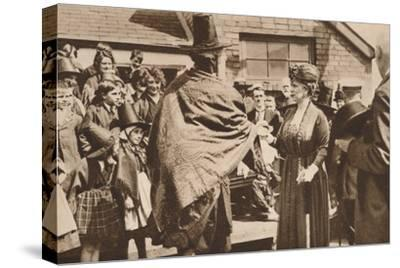 Royal tour of Wales, c1920s (1935)-Unknown-Stretched Canvas Print