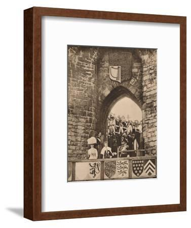 The investiture of the Prince of Wales at Caernarvon Castle, 13 July 1911 (1935)-Unknown-Framed Photographic Print