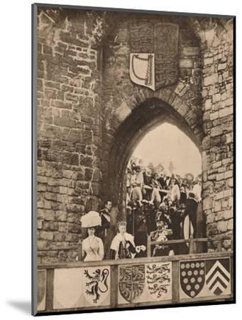 The investiture of the Prince of Wales at Caernarvon Castle, 13 July 1911 (1935)-Unknown-Mounted Photographic Print