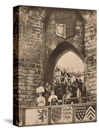 The investiture of the Prince of Wales at Caernarvon Castle, 13 July 1911 (1935)-Unknown-Stretched Canvas Print