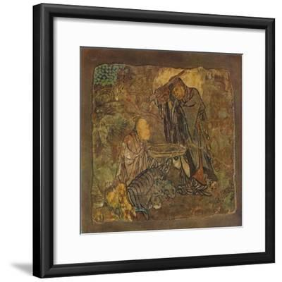 'Prince Gotama (Gautama) Cutting Off His Hair', (1934-35)-Unknown-Framed Giclee Print