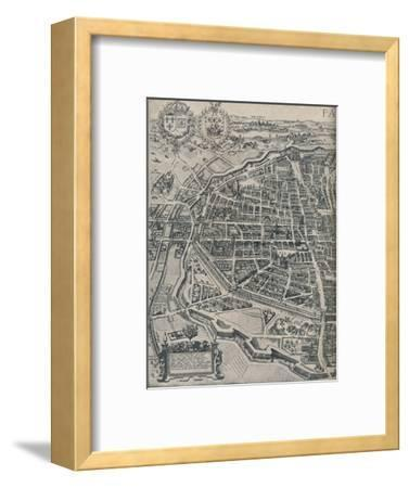 Plan of Paris, c1630 (1915)-Unknown-Framed Giclee Print