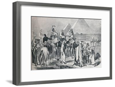 The royal party leaving the encampment at Giza, Egypt, c1861 (1910)-Unknown-Framed Giclee Print