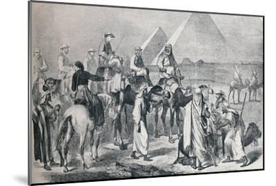 The royal party leaving the encampment at Giza, Egypt, c1861 (1910)-Unknown-Mounted Giclee Print
