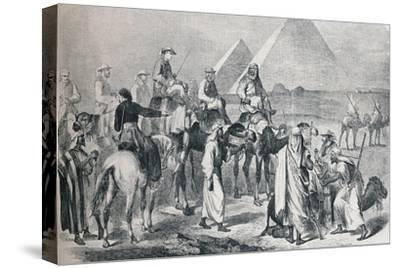 The royal party leaving the encampment at Giza, Egypt, c1861 (1910)-Unknown-Stretched Canvas Print