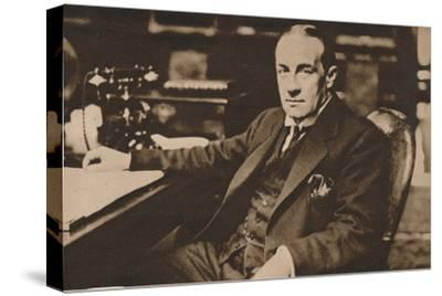 Stanley Baldwin, newly elected Prime Minister of the United Kingdom, May 1923 (1935)-Unknown-Stretched Canvas Print