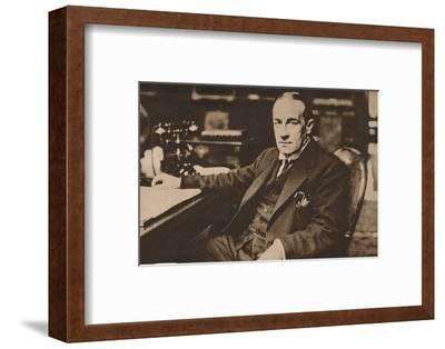 Stanley Baldwin, newly elected Prime Minister of the United Kingdom, May 1923 (1935)-Unknown-Framed Photographic Print