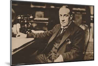 Stanley Baldwin, newly elected Prime Minister of the United Kingdom, May 1923 (1935)-Unknown-Mounted Photographic Print