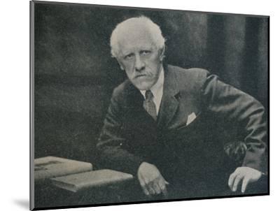 'Portrait of Dr. Fridtjof Nansen', c1920-Unknown-Mounted Photographic Print