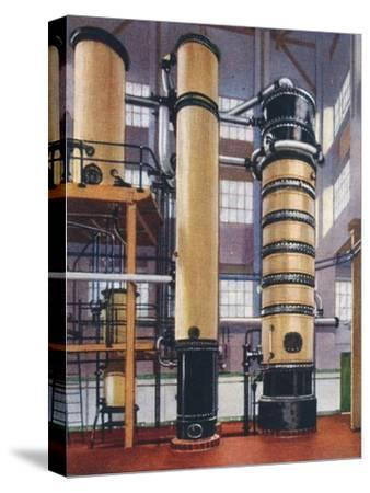 Benzole recovery plant, 1938-Unknown-Stretched Canvas Print