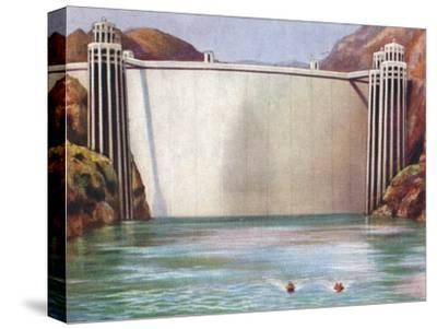 The Boulder Dam, USA, 1938-Unknown-Stretched Canvas Print