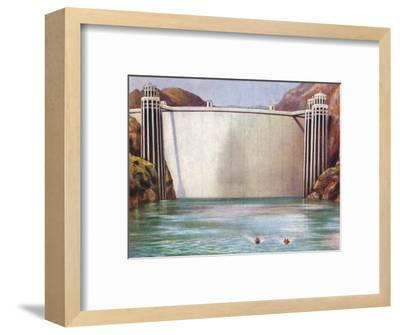 The Boulder Dam, USA, 1938-Unknown-Framed Giclee Print