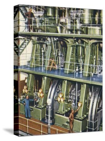 Huge triple expansion pumping engine, 1938-Unknown-Stretched Canvas Print