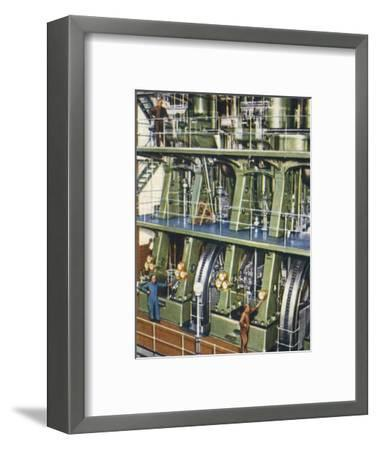 Huge triple expansion pumping engine, 1938-Unknown-Framed Giclee Print