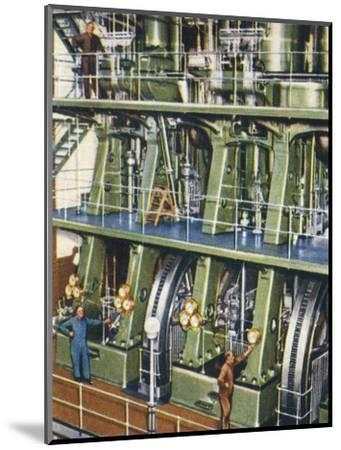 Huge triple expansion pumping engine, 1938-Unknown-Mounted Giclee Print