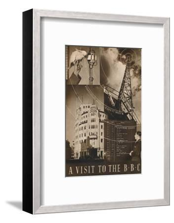 'A Visit to the BBC', 1937-Unknown-Framed Photographic Print