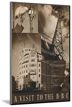 'A Visit to the BBC', 1937-Unknown-Mounted Photographic Print