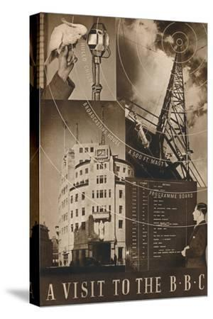 'A Visit to the BBC', 1937-Unknown-Stretched Canvas Print