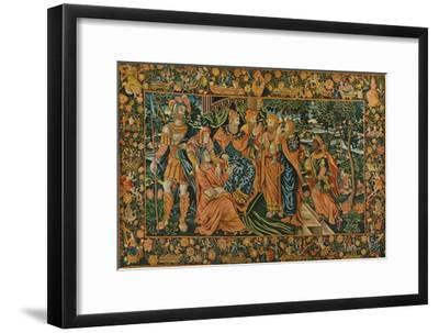 'Visit of the Magi to Herod: Elizabethan Petit-Point Panel', c16th century-Unknown-Framed Giclee Print
