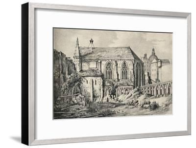 'The Church and the Cloister of the College of Cluny in 1824', 1915-Unknown-Framed Giclee Print