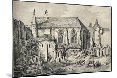 'The Church and the Cloister of the College of Cluny in 1824', 1915-Unknown-Mounted Giclee Print