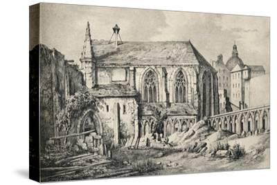 'The Church and the Cloister of the College of Cluny in 1824', 1915-Unknown-Stretched Canvas Print