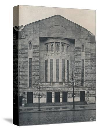 'The New Hebbel Theatre, Berlin', c1908-Unknown-Stretched Canvas Print