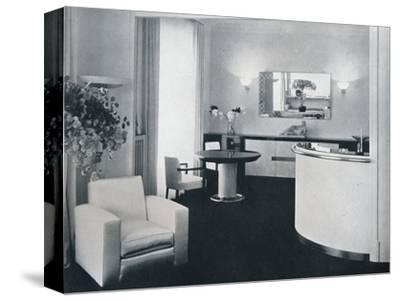 'Bar corner of a dining room designed by Jacques Adnet', c1940-Unknown-Stretched Canvas Print