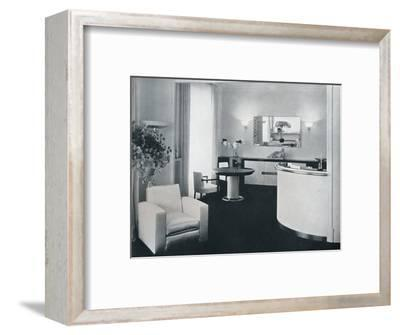'Bar corner of a dining room designed by Jacques Adnet', c1940-Unknown-Framed Photographic Print