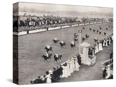 'The Finish for the Royal Hunt Cup', c1903-Unknown-Stretched Canvas Print