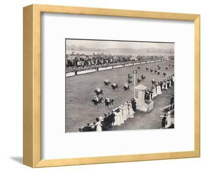 'The Finish for the Royal Hunt Cup', c1903-Unknown-Framed Photographic Print