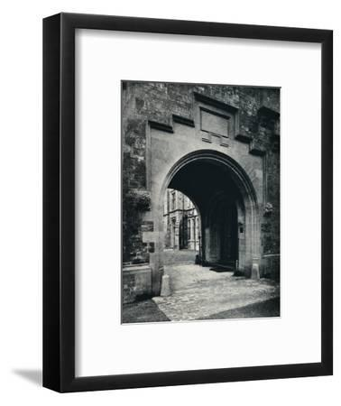 'Grizedale Hall, Lancashire: Archway in Tower to Porte-Cochere', c1911-Unknown-Framed Photographic Print