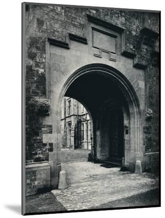 'Grizedale Hall, Lancashire: Archway in Tower to Porte-Cochere', c1911-Unknown-Mounted Photographic Print