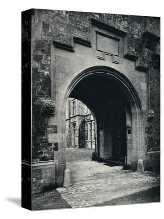 'Grizedale Hall, Lancashire: Archway in Tower to Porte-Cochere', c1911-Unknown-Stretched Canvas Print