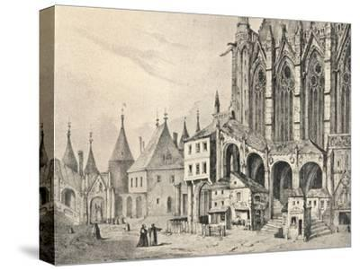 'The Staircase of the Sainte-Chapelle', 1700 (1915)-Unknown-Stretched Canvas Print