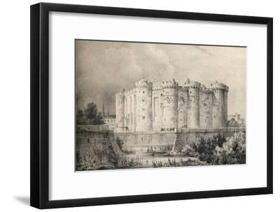 'The Bastille in 1700', 1915-Unknown-Framed Giclee Print