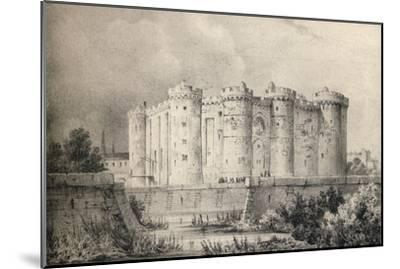 'The Bastille in 1700', 1915-Unknown-Mounted Giclee Print