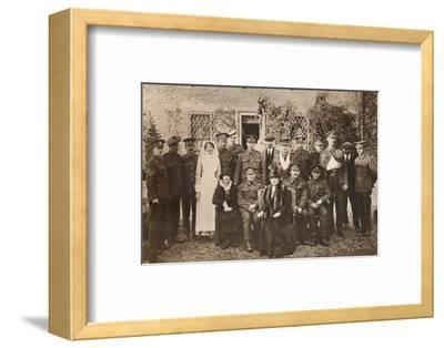 'Lady Elizabeth with Countess of Strathmore and convalescent wounded soldiers', 1916-Unknown-Framed Photographic Print