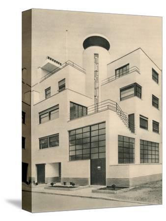 'House of M. M. Joel and Jan Martel, scupltors, Rue Mallet-Stevens, Auteuil', c1927-Unknown-Stretched Canvas Print