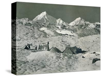 'The Camp below Jongsong La', c1903-Unknown-Stretched Canvas Print
