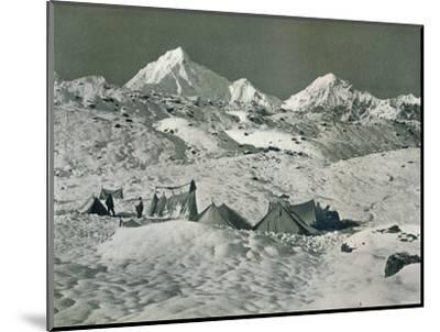 'The Camp below Jongsong La', c1903-Unknown-Mounted Photographic Print